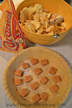 Carmel Crumble Homemade Apple Pie - The Cards We Drew