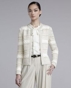 St. John - Shop Online - Sale - Lofty Hand-Knit Jacket