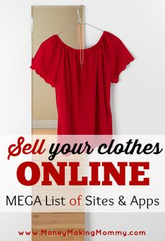 Resale Ideas Make Money Cleaning out your closet for the season? Why not cash in on those clothes you no longer want. Sell them online! This is your chance to grab 100 great products WITH Master Resale Rights for mere pennies on the dollar! Make Money Writing, Make Money Blogging, Money Tips, Make Money Online, Saving Money, Money Savers, Sell Your Clothes Online, Selling Used Clothes, Make Money Fast