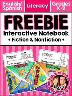 FREEBIE ALERT! - Interactive Notebook Literacy Comprehension Activities! (English & Spanish)