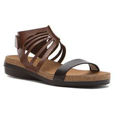 7a1452e93f26 Naot Mint cut-out sandal in brown and black Naot Shoes