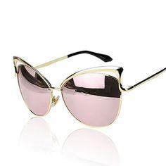 VictoryLip Cat Eye Rose Gold Mirror Sunglass //Price: $4.85 & FREE Shipping //     #jewellery