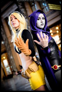 Terra and Raven (from Teen Titans) | Comic Con Chile 2013