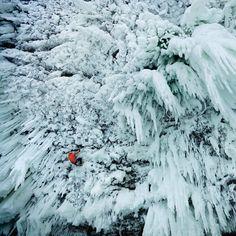 """#spray #cave behind #Helmcken #Falls in #British #Columbia #climber"" #explorebc"