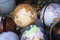 Travel a lot, explore the world. Start with a map. God, I want to start a globe collection!
