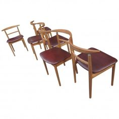 Set of Six Dining Chairs Designed by Helge Sibast for Sibast, Denmark, 1960s
