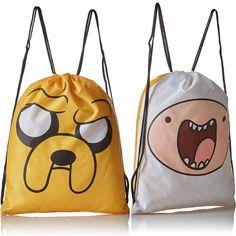 Bolsa Reversible Finn y Jake:  Lleva tus objetos del día a día con esta divertida bolsa reversible con los personajes principales de la serie Hora de Aventuras (Adventure Time).