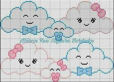 This Pin was discovered by sev Baby Cross Stitch Patterns, Cross Stitch Baby, Cross Stitch Designs, Crochet Patterns, Cross Stitching, Cross Stitch Embroidery, Baby Knitting, Crochet Baby, Baby Motiv