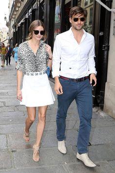 Olivia Palermo with Husband Johannes Huebl