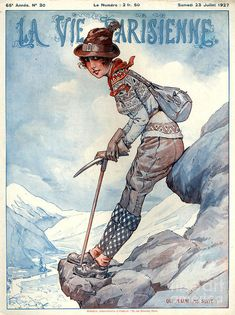 art deco - the drawing France La Vie Parisienne Magazine by The Advertising Archives Old Magazines, Vintage Magazines, Advertising Archives, Magazine Art, Magazine Covers, Historical Images, Vintage Artwork, Outdoor Art, Vintage Travel Posters