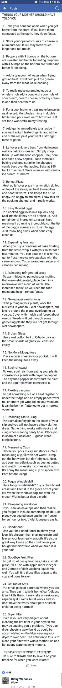 Things your momma should have told you..
