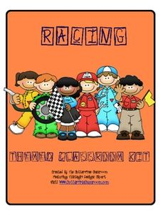 RACING THEME CLASSROOM KIT - PRINTABLES & MORE. This 15 page thematic kit contains printables to enhance your racing/race car themed classroom. Included in the set you'll find:    communication folder/binder covers  communication folder/binder pages  teacher plan book pages  welcome postcards  bookmarks  themed notepaper for planning  bathroom passes  nameplates for desks, lockers, or student