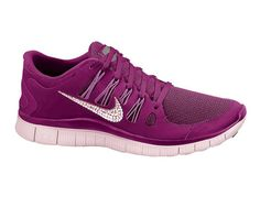 Nike Free 5.0+ Women's Running Shoes - Purple - with 100% Swarovski Elements Crystals on Etsy, $160.00