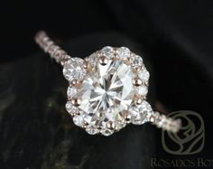 I really like this! Oval Halo Engagement Ring, Cubic Zirconia Engagement Rings, Engagement Ring Settings, Engagement Bands, Forever One Moissanite, Moissanite Diamonds, Ring Verlobung, Diamond Rings, Oval Diamond
