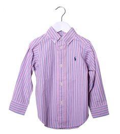 Ralph Lauren Pink/Blue/White Striped Button Down Shirt