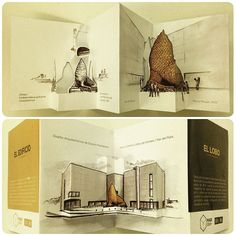 Graphisches Design, Paper Design, Book Design, Creative Brochure, Creative Advertising, Libros Pop-up, Pop Up Invitation, Graphic Design Brochure, Pop Up Art