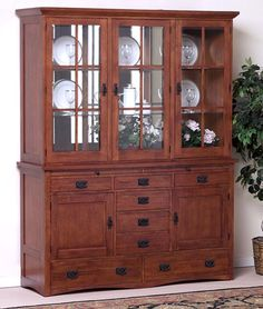 $2,559  Glacier Falls 3 Bay Mission China Cabinet