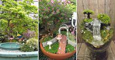 20 outstanding fairy tale ideas for your garden fairies gard Backyard Seating, Backyard Landscaping, Bonsai Garden, Garden Planters, Backyard Projects, Outdoor Projects, Backyard Ideas, Rock Garden Design, Lawn Care
