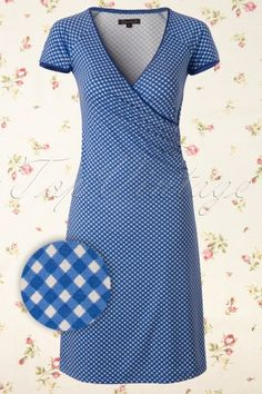 King Louie - 50s Bardot Cross Dress in Blue and White