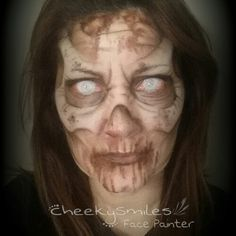 ZOMBIE MAKEUP BY CHEEKYSMILES FACE PAINTER IN OKLAHOMA CITY!!!