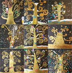 9 Lovely Trees of Friendship Ready and Waiting Positioning collaged birds Sketching out their Klimt style trees with pastel pencils Creative aftermath Each time I am hired to lead an art project at Gustav Klimt, Klimt Art, Tree Of Life Art, Tree Art, Friendship Art, Middle School Art Projects, 4th Grade Art, Ecole Art, Art Lessons For Kids
