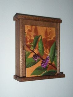 ACEO wall mount display walnut tint vertical