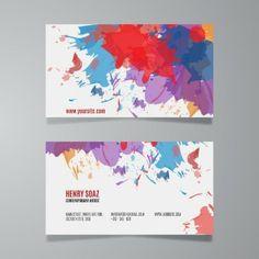Artist business card graphic available in eps vector format molde do carto do respingo da pintura wajeb Choice Image