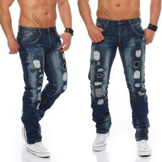 jeans destroyed cargo jn2205 skinny slim denim fetzen used hose herren. Black Bedroom Furniture Sets. Home Design Ideas