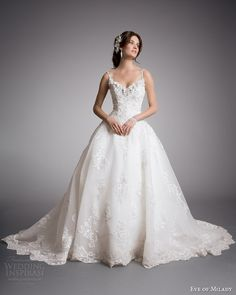 White and Gold Wedding. Sweetheart Corset Ballgown Dress. eve of milady couture wedding dress 2014 ball gown with straps style 4318