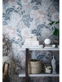 Ava by Sandberg - Grey - Wallpaper : Wallpaper Direct Grey Wallpaper, Home Wallpaper, Wallpaper Ideas, Interior Wallpaper, Inspiration Wand, Deco Design, Trendy Bedroom, Designer Wallpaper, Interior Design Living Room