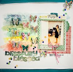 Newly-added (and new mom!) DT girl Sam shares a layout along with strategies for using your 6x6 paper pads from the PL kit on a traditional layout.
