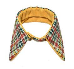 Detachable collar, wool tweed winter collar