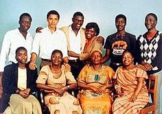 Family of Barack Obama ~A family portrait to cherish! Pride in heritage is of human value, which President Obama fully possesses, with his many other attributes.