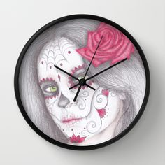 Day of the dead clock. #Halloween #art #clock #rose