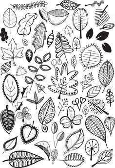 Doodle leaves royalty-free stock vector art