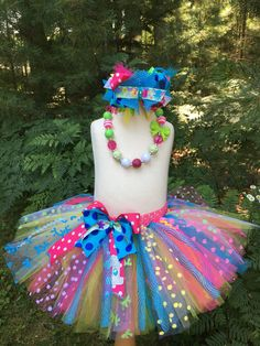 Excited to share this item from my shop: Pink green blue turquoise yellow UNDER THE SEA (mermaid) or other theme Inspired Tutu smash cake birthday with bow. Shirt available Chunky Bead Necklaces, Chunky Beads, Tutu Ideas, Pink And Green, Yellow, Ribbon Colors, Under The Sea, Mermaid, Bows