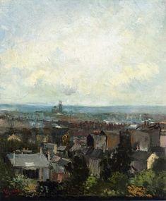 Van Gogh, Rooftops in Paris, Spring 1886.