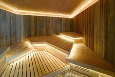 Good sauna designs and plans make your sauna project perfect. When you decide to design your own sauna, it is important to consider several factors. Heaters are the heart and soul of any sauna. Spa Design, Design Sauna, Design Ideas, Architectural Digest, Sauna Steam Room, Sauna Room, Steam Bath, Interior Desing, Interior Exterior