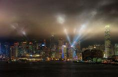 Diamond Princess cruising through Hong Kong