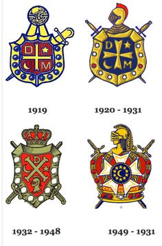 I think I want to use an element from the DeMolay crest in place of the anchor...maybe the stars and the crescent? Maybe the middle section of the one on the top right.