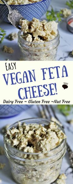 Vegan feta cheese made from tofu. This dairy free tofu feta tastes surprisingly similar to the real thing, but is vegan, gluten free, and nut free! thehiddenveggies.com #veganfeta #veganfetacheese #vegancheese #tofufeta #dairyfreefeta #glutenfree #plantbasedcheese #healthyrecipes #vegancheeserecipe