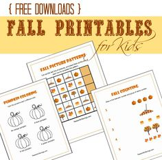 Here are FREE Fall Printables for Kids that are fun DIY Thanksgiving Crafts or Fall Crafts for Kids!