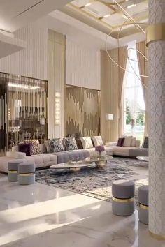 Living Room Sofa Design, Room Design Bedroom, Home Room Design, Interior Design Living Room, Living Room Designs, Luxury Interior Design, Modern Living Room Design, Contemporary Interior Design, Bedroom Decor