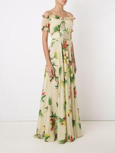 Isolda Vestido longo de seda