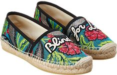 Gucci Embroidered Floral Brocade Espadrille