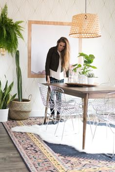 Aspyn Ovard's Dining Room Makeover REVEAL from Vintage Revivals | Check out the details of Aspyn's gorgeous, bohemian, eclectic, fresh dining room and find your own inspiration!
