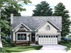 Eplans Cottage House Plan - Sunny Box-Bay Window - 1209 Square Feet and 3 Bedrooms from Eplans - House Plan Code HWEPL08653