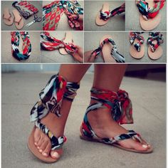 DIY Scarved Sandal I love and want one so bad
