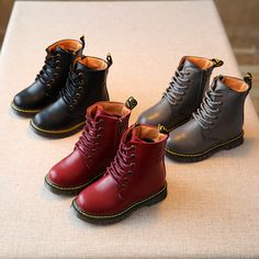 New Autumn Winter Children PU Leather Waterproof Martin Boots Kids Snow  Boots Fashion Girls Boys leather shoes Casual shoes-in Boots from Mother    Kids on ... da39a059b5f3