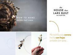 Corona de hojas dorada DIY DIY Golden leaf crown